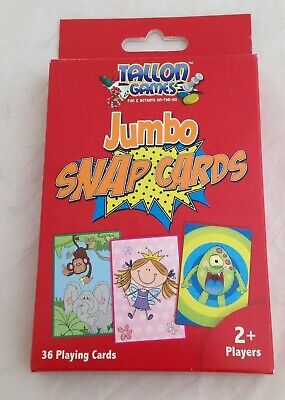 Jumbo Snap Cards Kids Family Game Tallon Playing Cards Loot Bag Party 36 Cards  • 2.49£