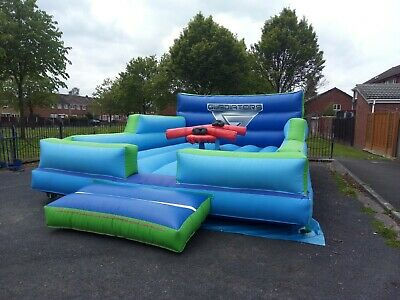 Inflatable Commercial Gladiator Fighting Games Bouncy Castle • 900£