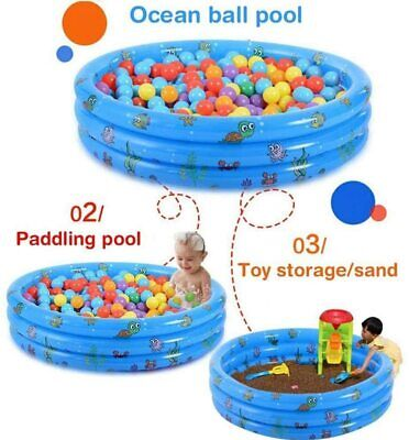 Paddling Garden Pool Toddler Small  Kids Fun Swimming Outdoor Baby Inflatable • 9.99£