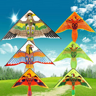 1Pc 1m Eagle Kite Novelty Kites Flying Easy Control Family Outdoor Sports T KY • 3.74£