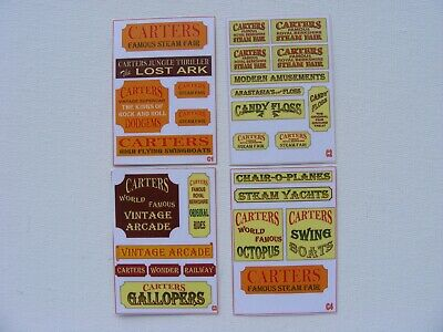 Carters Steam Fair Stickers - Pack Of 4 Mini-sheets • 2.50£