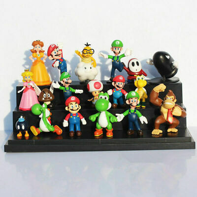 18 Pcs Super Mario Mini Figure Cute Toys Doll Action Figures Collection Gift • 10.99£