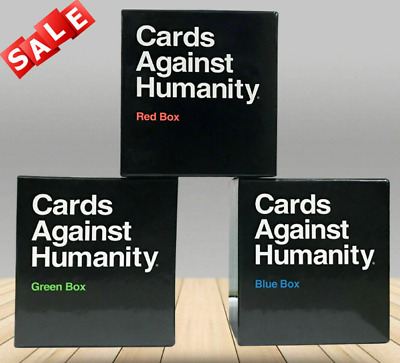 Cards Against Humanity UK Expansion Red+Green+Blue Box(3 Pack) • 15.99£