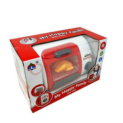 Kids Children Pretend Home Appliance Red Battery Operated Microwave Oven Set • 6.99£