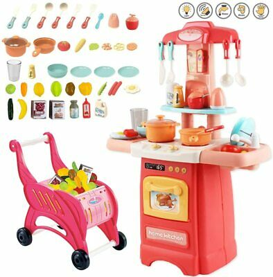 KIDS Realistic SIMULATION LARGE KITCHEN Accessories PLAY SET ROLE PLAY   • 24.99£