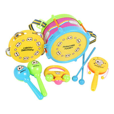 6pcs Baby Boy Girl Drum Musical Instruments Drum Kit Toddlers Children Toys Gift • 5.99£