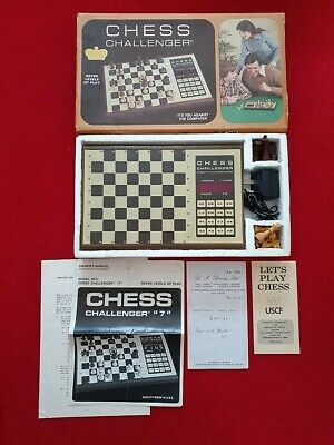 FIDELITY - Electronic CHESS CHALLENGER  7  #S140 *BOXED* All Pieces WORKING • 27£