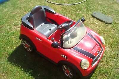 Kids Red Electric Ride On Mini Cooper VGC • 25£