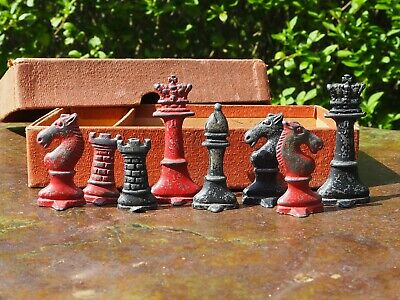 Vintage Original Boxed  The Rose Chess  No.1 Lead Set - Complete • 19.99£
