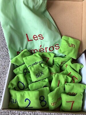 Learn French Number Bean Bags • 4.99£