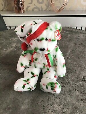 TY Beanie Buddy - 1998 Holiday Teddy - Excellent Condition • 21£