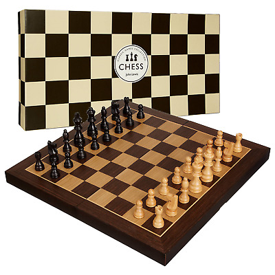 John Lewis Classic Games Collection Wooden Chess Set With Folding Board Boxed • 29.99£
