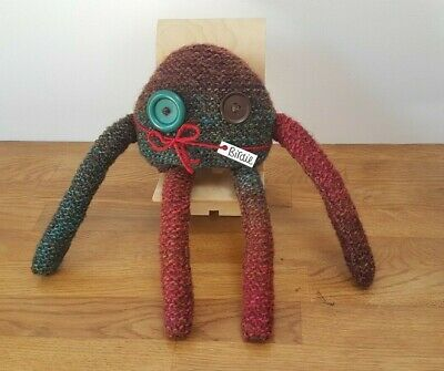 Multicoloured Hand Knitted Friendly Monster, Stuffed Toy, Very Cute, Great Gift! • 5.99£