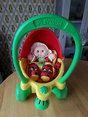 Vintage Rare Playskool Lil Lady Pram / Buggy With Bell Doll And Carrycase • 48£