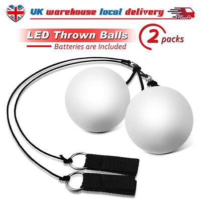 LED Glow POI Juggling Thrown Balls For Professional Belly Dance Level Hand Props • 14.79£