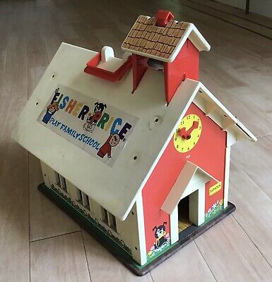 Vintage Fisher Price Little People Family School House • 10.50£