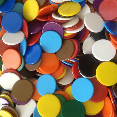 22mm Counters Pack Of 50, 100 Multi Colours Choice Red Blue Green Yellow Purple  • 3.50£