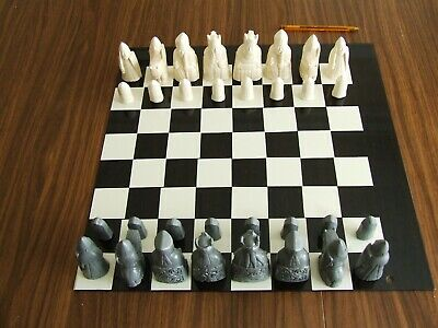 A Fascinating Medieval Isle Of Lewis Chess Set Chessmen Game Pieces • 15£