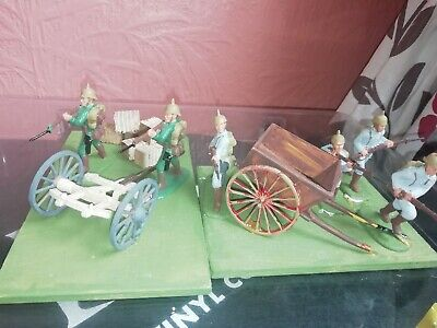 Toy Soldier's 1/32 WW1 Painted German Infantry And Carts • 15£