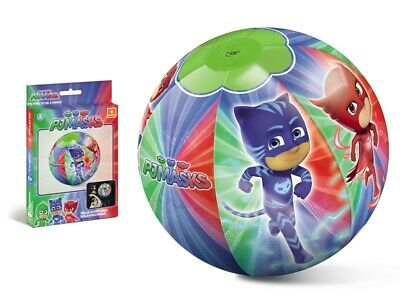 PJ Masks Inflatable Beach Ball Kids Pool Ball Swimming Holiday Garden 40cm • 6.99£