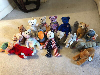 Beanie Baby Bundle (Animals And Bears) - Most With Original Ty Labels  • 3£