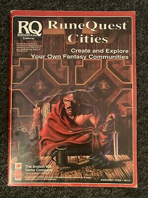 Runequest Cities RPG Guide - Rare And Packed With Content! • 12.99£