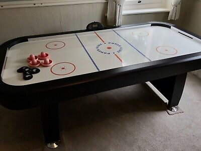 Air Hockey Table 7ft With 4 Pucks 8 Discs Electronic Score • 50£