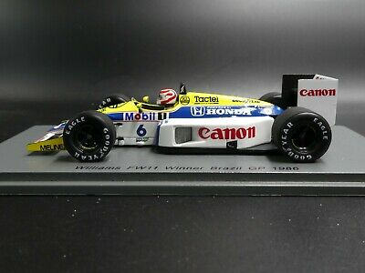 Spark 1:43 Nelson Piquet Williams FW11 Brazil GP F1 1986 S7480 New Resin • 45.98£