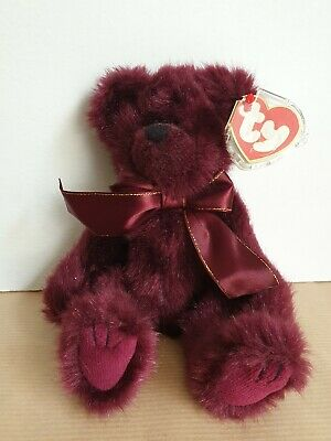 TY Beanie Baby Bear 'Beargundy' The Attic Treasures Collection Rare • 5.99£