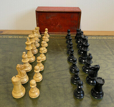 Antique Carved Boxwood Chess Set With Box  • 12.50£