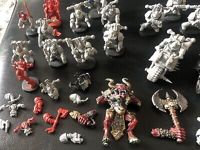 Warhammer 40k Retro Chaos Space Marines Blood Thirster Khorne Berserker Bikes • 3£