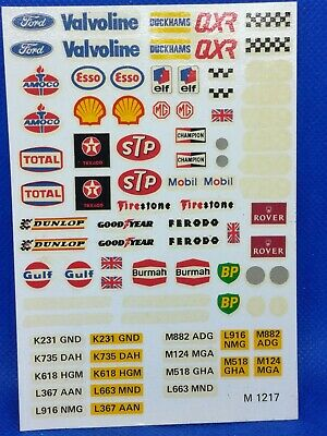 Scalextric Transfer Sheet • 3£
