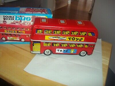 1960s Tin Friction Toy.the Londonien Double Decker Bus ,boxed • 14.99£