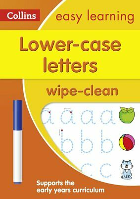 Lower Case Letters Wipe Clean Activity Book Preschool Practice Learning Writing • 6.85£