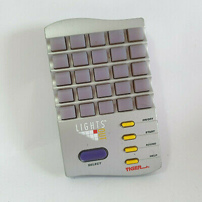Lights Out Tiger Electronics Handheld Puzzle Game 1995 Tested & Working • 13£