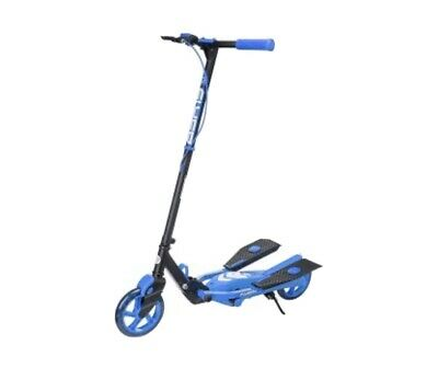 Yvolution Y Flyer Kids Foldable Pedalling Stepper Scooter Ages 7+ In Blue • 49£