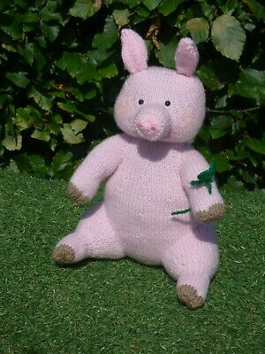 Adorable Lucky Pig Hand Knitted Soft Toy • 20£