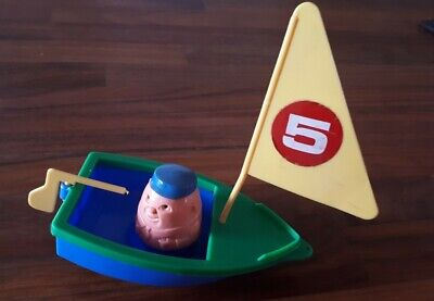 Weeble Boat With 1 Weeble 1970s With Sail • 4.99£