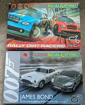 2 X Micro Scalextric Sets - 007 And Rally Dirt • 5.50£