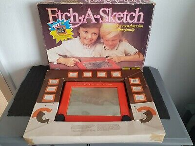 Vintage Etch A Sketch Peter Pan 1983 With Box And Paperwork • 14.99£