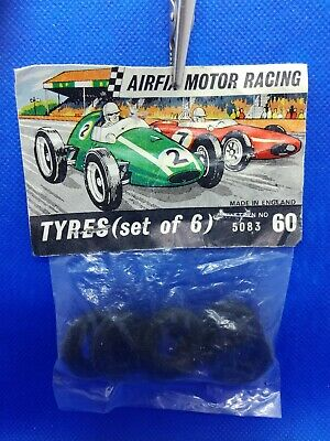 Airfix 5083/60 Tyres X 6,for Rear Of Vanwall Or Maserati • 9£