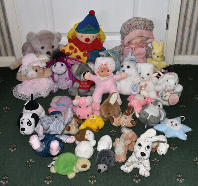 Job Lot Of Cuddly Soft Plush Toys, 30+, Teddies, Bunnies Etc.. • 20£
