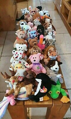 Random Bundles Of 3: TY Rare And Retired Beanie Baby Babies, Soft Toy/s • 8£