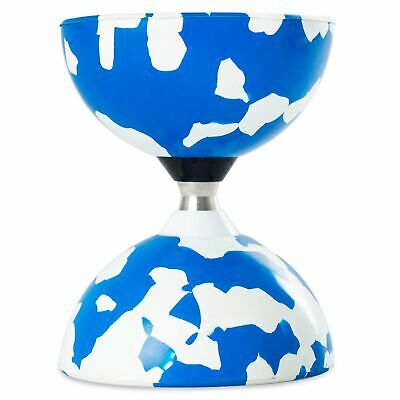 Blue/White Juggle Dream Jester Bearing Diabolo (COMES WITHOUT STICKS) • 16.99£