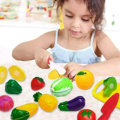 44 Pieces Kids Cutting Fruit Chopping Vegetables Bag Chopping Board Food Play • 9.99£