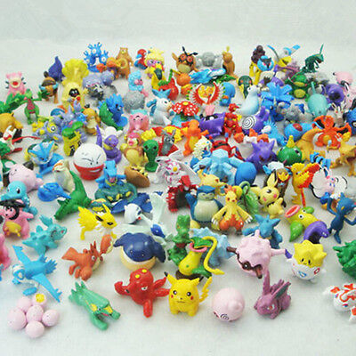 144pcs Pokemon Pikachu Monster Collectible Action Figures Doll Set Kids Toy Gift • 17.49£