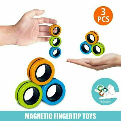 Magnetic Ring Toy - Finger Spinner Toy Multi Activity Stress Relief  • 4.29£