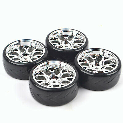 4PCS  1/10 RC Drift Racing Tires Wheels 12mm Hex For Tamiya HSP HPI On Road Car • 12.95£