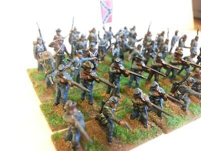 X42 Confederate Infantry - Painted- 1/72 • 24.99£