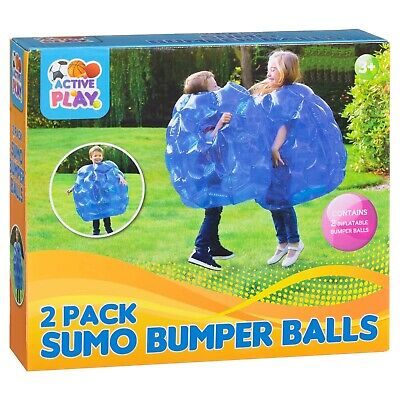 2pk Buddy Bumper Bounce Balls Sumo Suits Kids Inflatable Fun Play Game • 27.95£